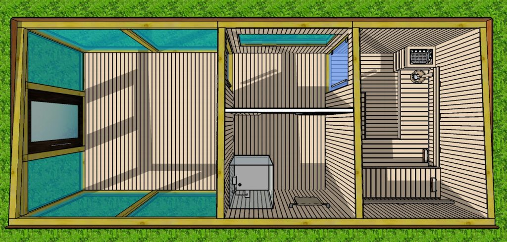 Sauna ogrodowa projekt Noah
