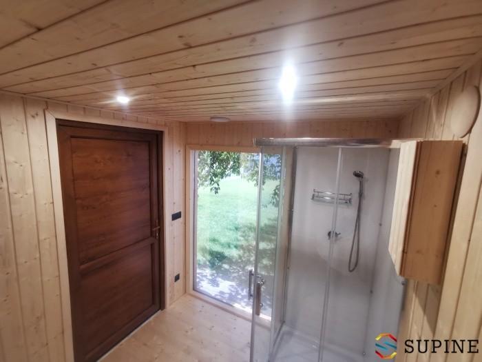 Sauna z prysznicem do ogrodu Emma